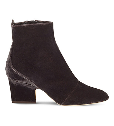 JIMMY CHOO Autumn 65 suede heeled ankle boots (Dark+mink