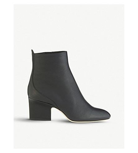 JIMMY CHOO Autumn 65 leather heeled ankle boots (Black