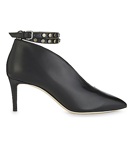 JIMMY CHOO Lark 65 leather heeled ankle boots (Black