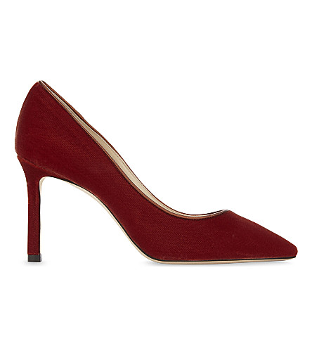 JIMMY CHOO Romy 85 velvet courts (Fire