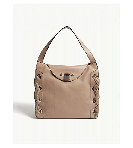JIMMY CHOO Rion grainy soft leather tote (Ballet+pink