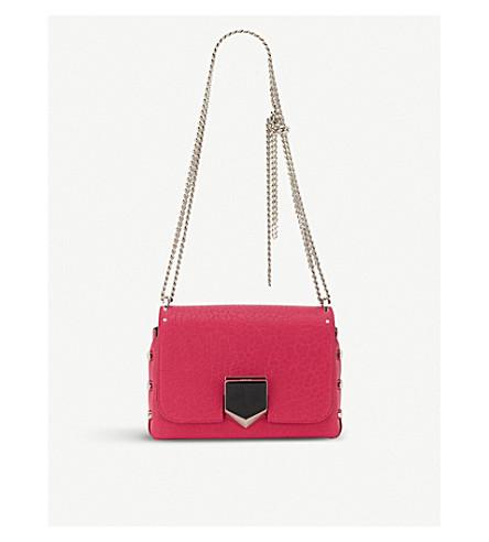 JIMMY CHOO Lockett Petite leather shoulder bag (Cerise