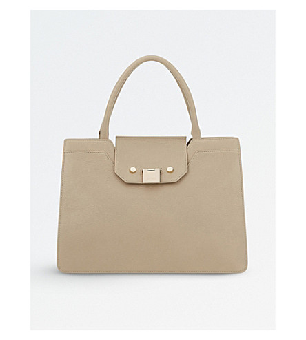 JIMMY CHOO Rebel small leather tote bag (Chai