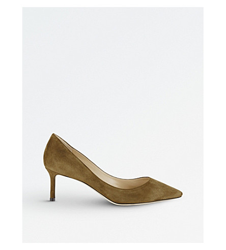 JIMMY CHOO Romy 60 suede courts (Olive
