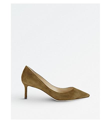 JIMMY CHOO Romy 60 麂皮绒宫廷鞋 (橄榄