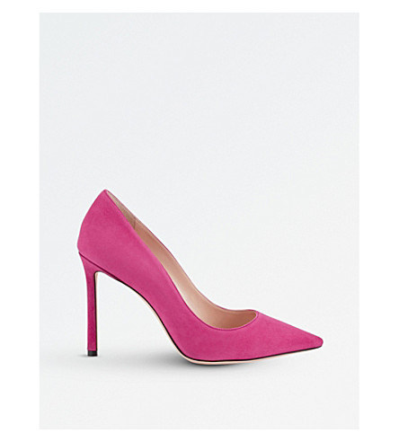 JIMMY CHOO Romy 100 suede courts (Cerise