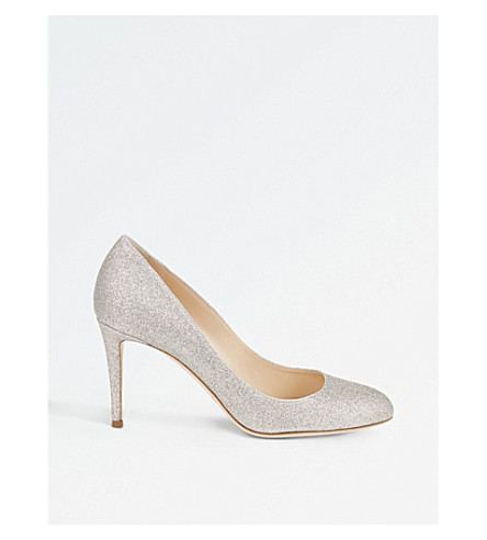 JIMMY CHOO Bridget 85 glitter courts (Platinum+ice