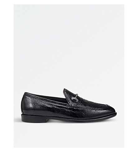 JIMMY CHOO Marti patent leather loafers (Black