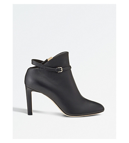 JIMMY CHOO Tor 85 leather ankle boots (Black