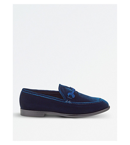 JIMMY CHOO Marti velvet loafers (Navy