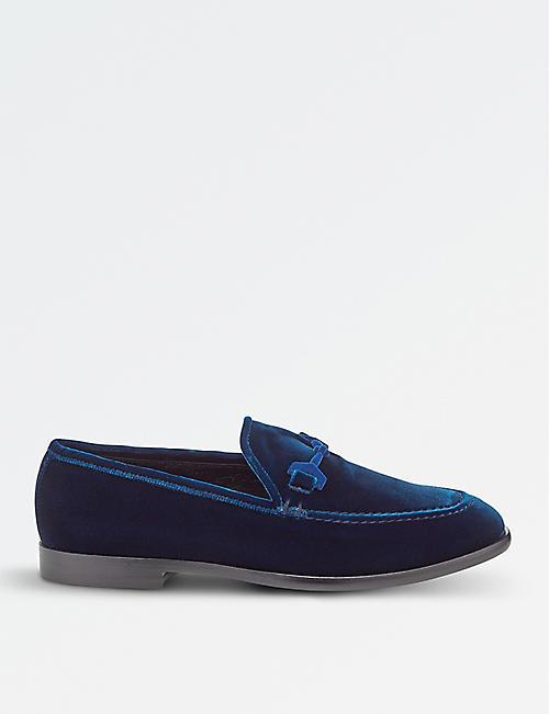 JIMMY CHOO Marti velvet loafers