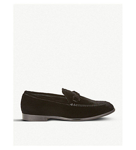JIMMY CHOO Marti velvet loafers (Black