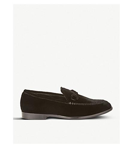 JIMMY CHOO 马蒂天鹅绒乐福鞋 (黑色