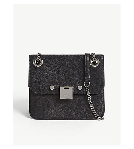 JIMMY CHOO Rebel/XB small leather cross-body bag (Black/gunmetal
