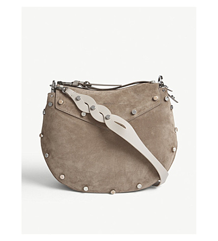JIMMY CHOO Artie suede shoulder bag (Light+mocha+mix