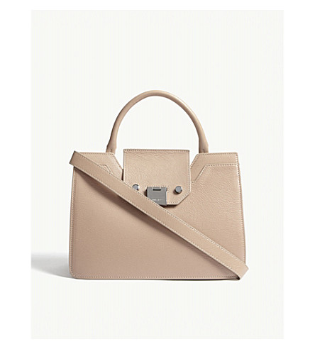 JIMMY CHOO Rebel small leather tote bag (Ballet+pink