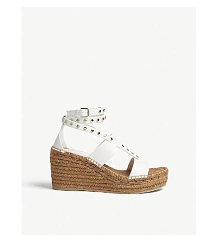 JIMMY CHOO Danica 80 Vachetta leather sandals (White