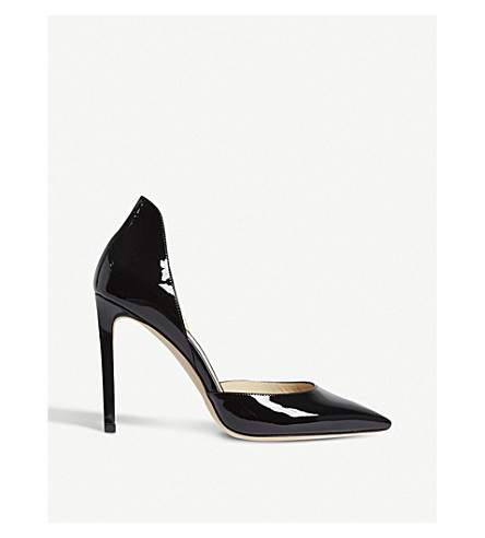 JIMMY CHOO Liz 100 patent leather courts (Black