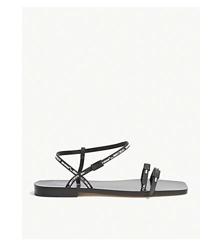 JIMMY CHOO Charlie open-toe sandals (Black/white
