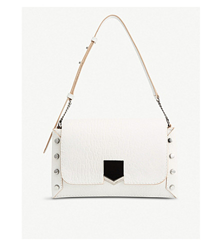 JIMMY CHOO Lockett leather shoulder bag Chalk Sale Outlet Store Cheap Sale Low Shipping High Quality Buy Online Cheap Official Cheap Sale Cost TOzsB