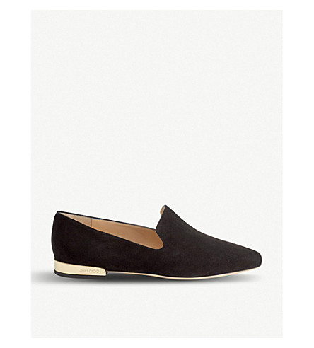 JIMMY CHOO Jaida suede slippers (Black