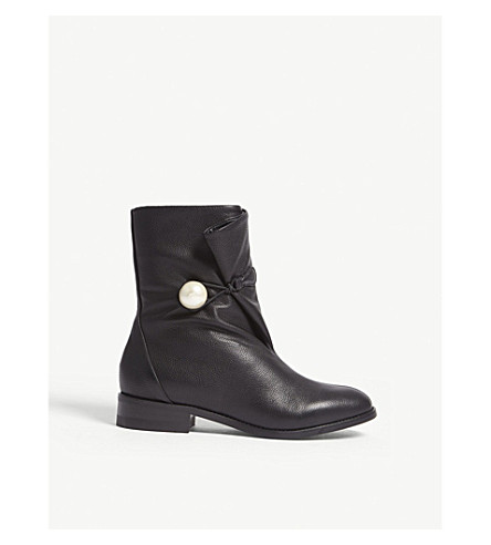 JIMMY CHOO Beatrice leather ankle boots (Black