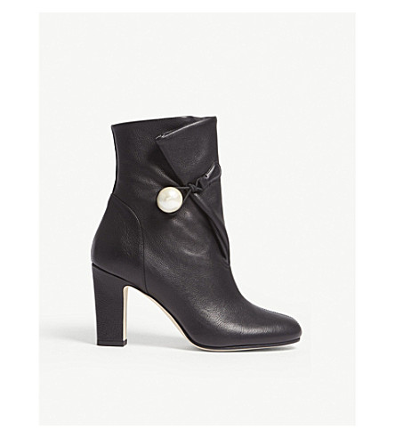 JIMMY CHOO Bethanie 85 leather ankle boots (Black