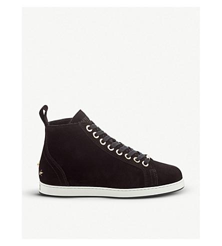 JIMMY CHOO 柯尔特天鹅绒高顶运动鞋 (黑色
