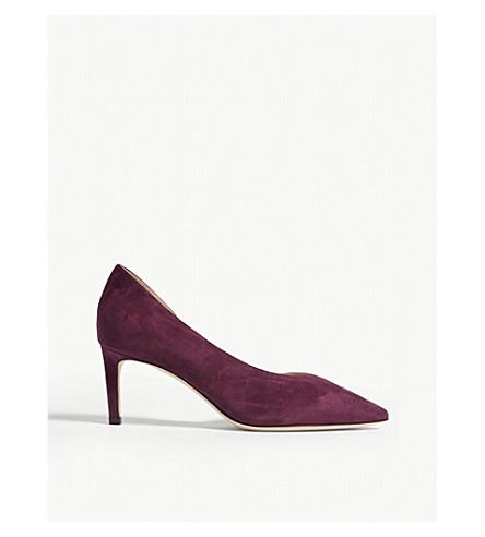 JIMMY CHOO Sophia 65 suede heeled pumps (Grape