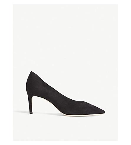 JIMMY CHOO Sophia 65 suede heeled pumps (Black