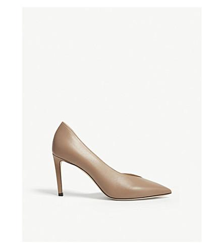 JIMMY CHOO Sophia 85 leather heeled pumps (Ballet+pink