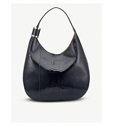 d62b439ea044 ... JIMMY CHOO Stevie python hobo bag (Navy. PreviousNext