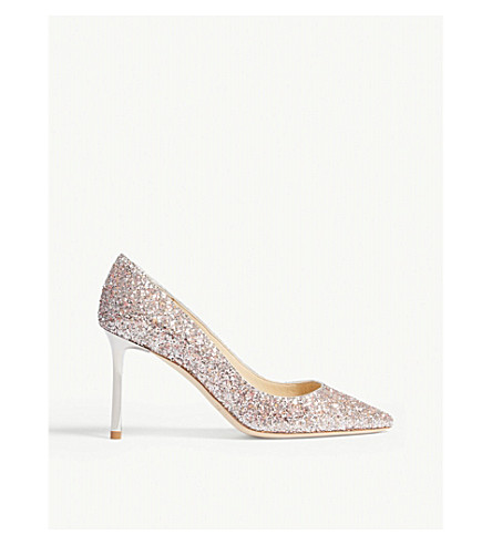 JIMMY CHOO Romy 85 speckled glitter courts (Viola+mix