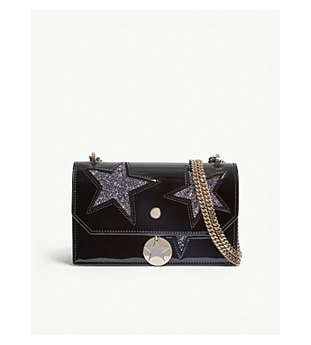 6b9629c82d48 ... JIMMY CHOO Finley patent leather cross-body bag (Black. PreviousNext