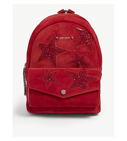 Medium Choo Cassie Jimmy Backpack Suede dEaaq80