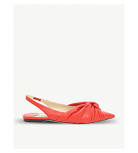 aa9024a560d JIMMY CHOO Annabell patent leather slingback flats (Chilli