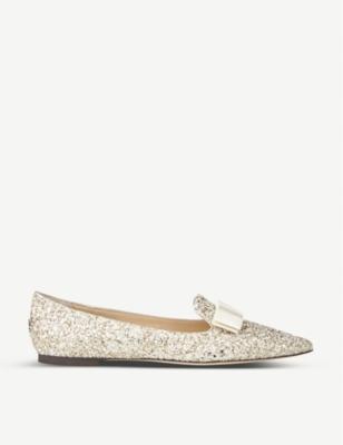 Gala glitter pointed-toe flats