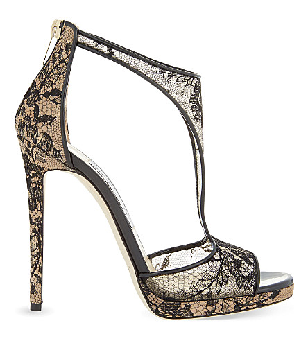 JIMMY CHOO Lana 120 lace black