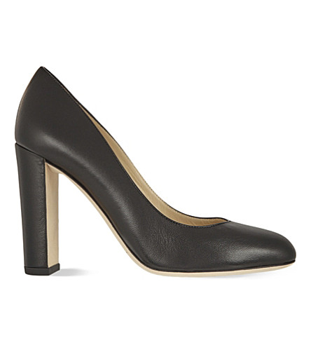 JIMMY CHOO Laria 100 leather heeled courts (Black