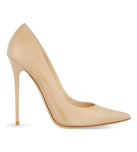 JIMMY CHOO Anouk 100 patent-leather courts (Patent+leather+nude