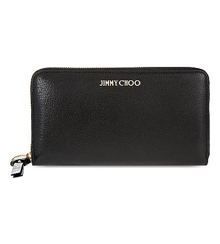 JIMMY CHOO soft-grain 皮革钱包 (黑色