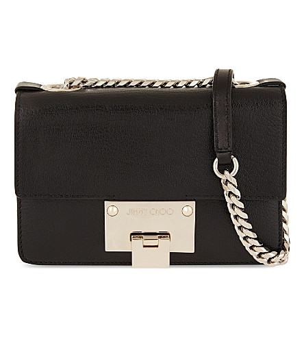 JIMMY CHOO Rebel soft mini calf-hair shoulder bag (Black/chrome