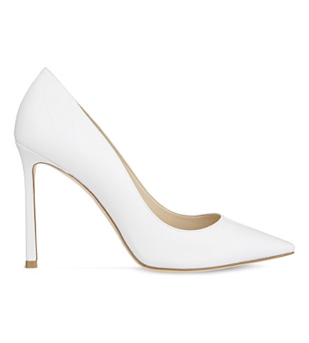 JIMMY CHOO Romy 100 leather courts (Optic+white