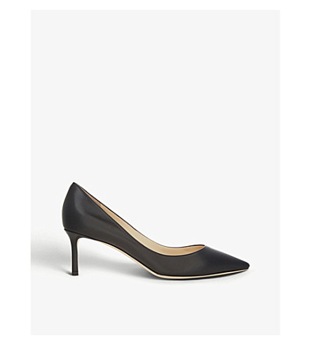 JIMMY CHOO Romy 60 leather courts (Black