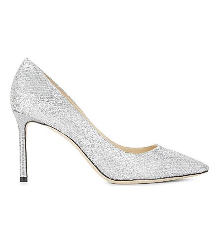JIMMY CHOO Romy 85 glitter fabric silver (Silver