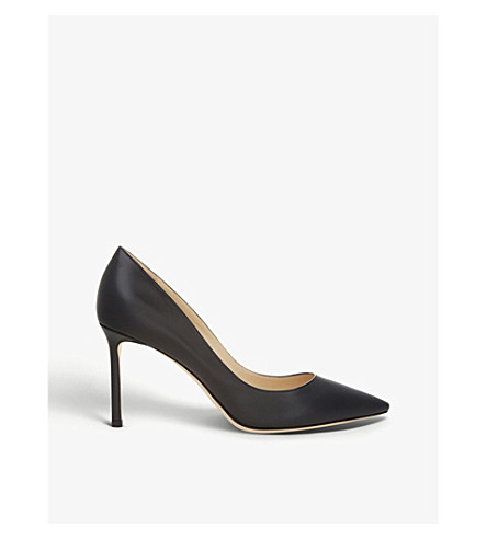 JIMMY CHOO Romy 85 leather courts (Black