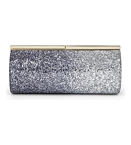 158fac2c4dfc ... glitter dégradé tube clutch (Navy silver. PreviousNext