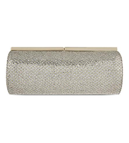 JIMMY CHOO Trinket metallic clutch (Light+bronze