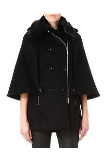 KAREN MILLEN Signature wool-blend investment cape