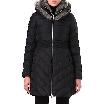 KAREN MILLEN Signature padded coat (Black